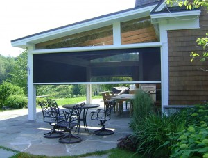 shades for screened porch