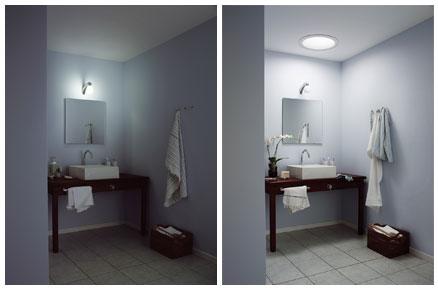světlovody - před a po