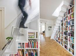 úložné prostory - knihovna ve schodech