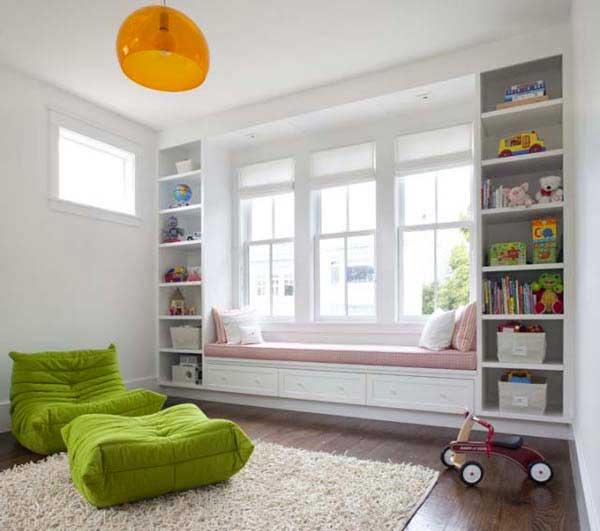 okenní sezení - nursery
