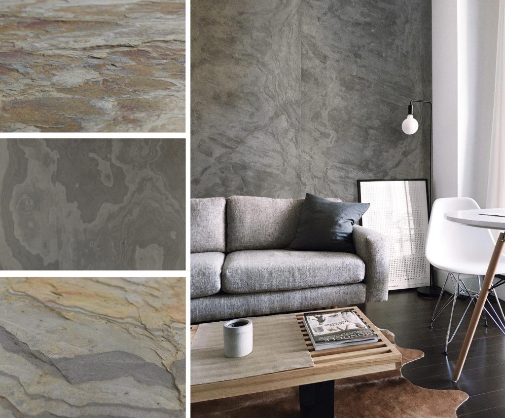 Přírodní kamenné fólie v interiéru si zamilujete